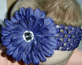 Ella and Lily Navy Blue Daisy flower headband Hairband Christmas Gift