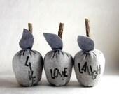 Grey Inspiration Apples. plush home decor