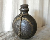 Antique French bottle rustic primitive decor