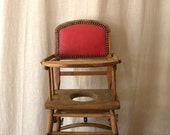 SALE French vintage furniture baby highchair