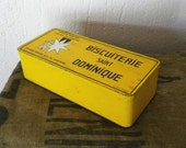RESERVED Vintage French tin box