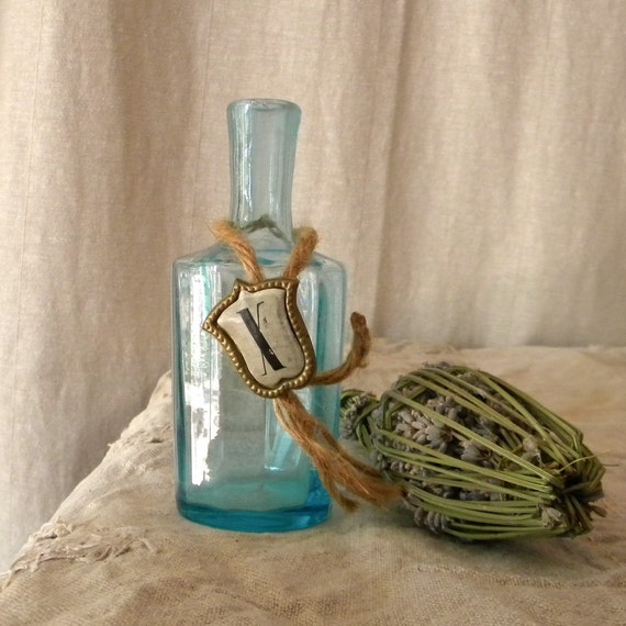 Recycled vintage French bottle