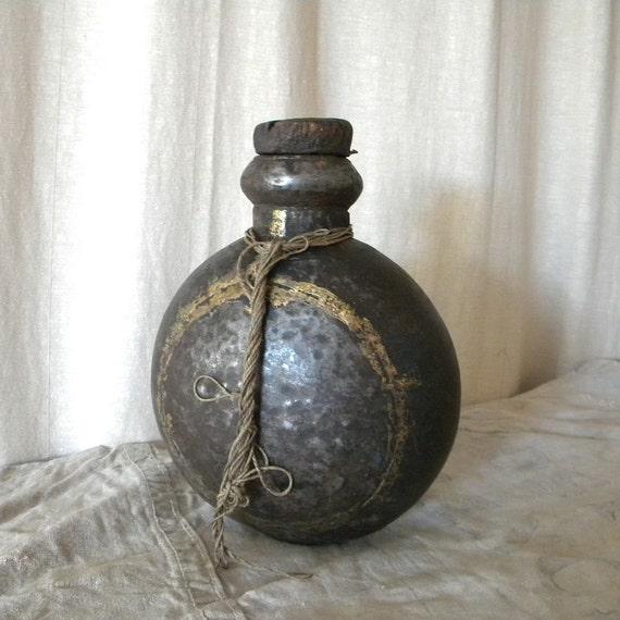 Antique French bottle rustic primitive decor