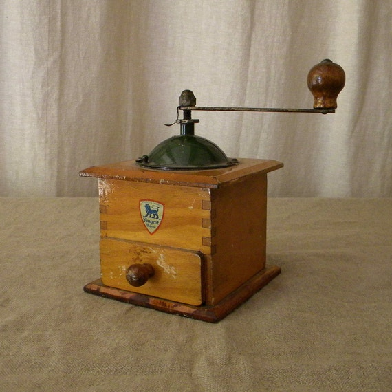Vintage Peugeot coffee mill, French country decor