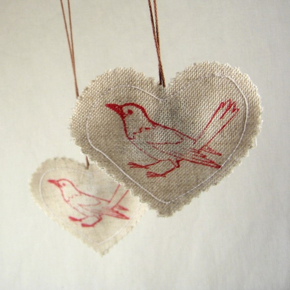 The Birds. cloves-and-anise scented ornaments (set of four)