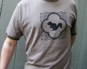 Squirrel Men's Brown Upcycled Ringer Tee