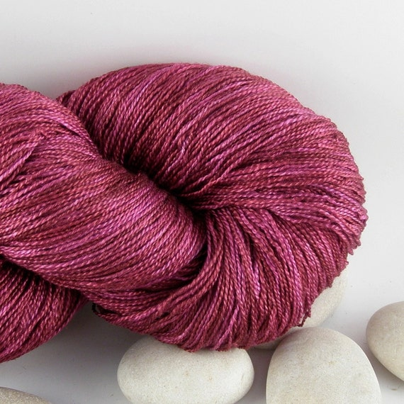 Queen of Hearts - Knitting Yarn Hand Dyed Silk - Lace Weight, Variegated, 1100yds - Berry Crush