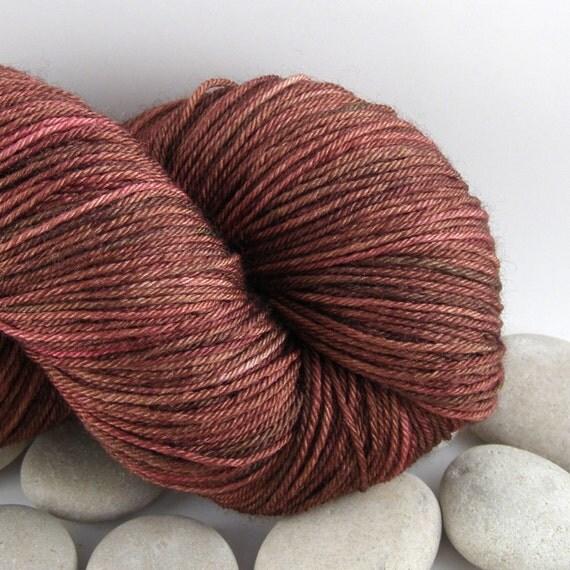 Queen of Hearts - Superwash Merino Wool Silk Hand Dyed Knitting Yarn - Fingering Weight, Variegated, 440yds - Java