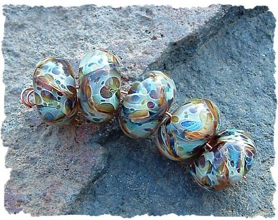Lampwork Beads,  Handmade Glass Beads, Boro Lampwork Beads,  SEA SIDE