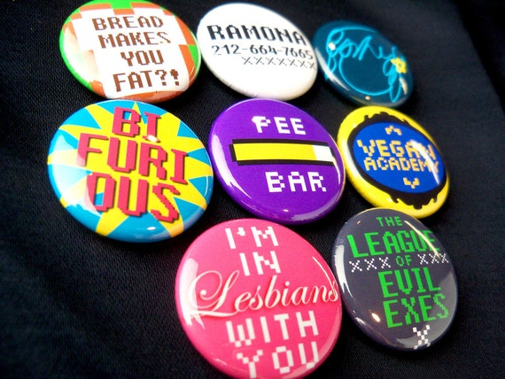 "Scott Pilgrim 1"" button set - Epic"