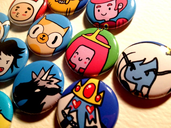 "IMPROVED Adventure Time Gender Bend 1"" Button Set - Fionna and Cake"