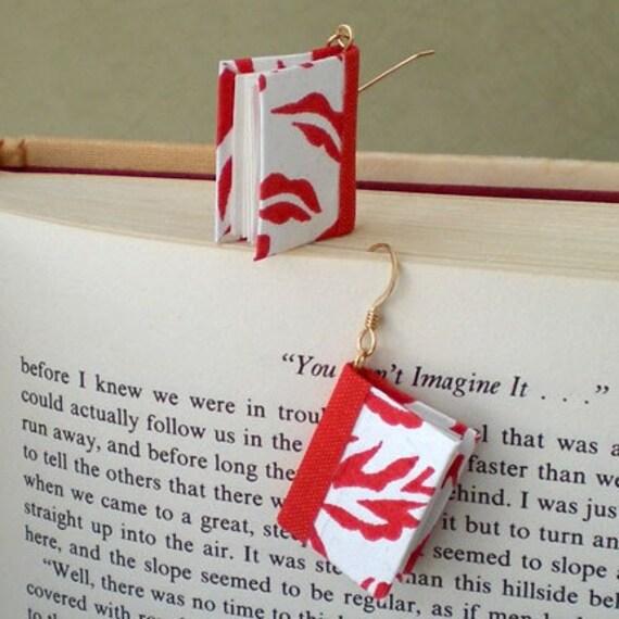 Red Dynasty Book Earrings