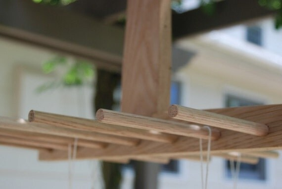 Herbs , Flowers, Pasta, Mittens-Wooden Drying Rack made from Maple and Oak.