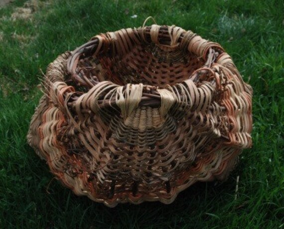 Large Woven Grapevine Egg Basket
