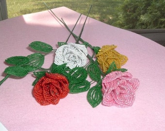 Pick A Rose Story-French Beaded Rose
