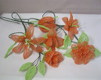 Special Custom Offer French Beaded Flower