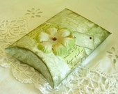 pillow gift box in sage green