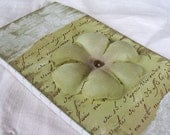 shaby chic notebook in sage green