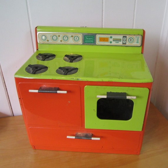 RESERVED for Wendy vintage toy stove Sears Kenmore