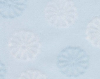 Kiku - sky blue, Japanese chrysanthemum, 5 letter-sized sheets