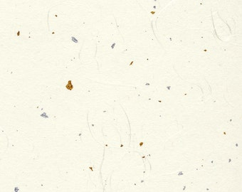 "Japanese Kingin cardstock - white with gold and silver flecks, one-sided, 5 sheets of 8.5"" x 11"""