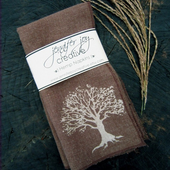 Lone Tree Hemp Cloth Napkins Set