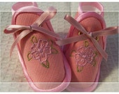 Girly Pink baby shoes from My First Baby Shoes collection