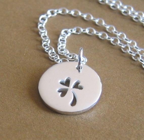 My Lucky Shamrock Sterling Silver Necklace