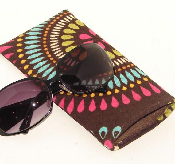 NEW LOW PRICE Sherbert Swirl on Chocolate Brown Sunglasses Case