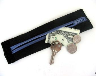 KIDS- Secret Stash Money Cuff- Black - hide your cash, lunch money and house key in a hidden zipper.
