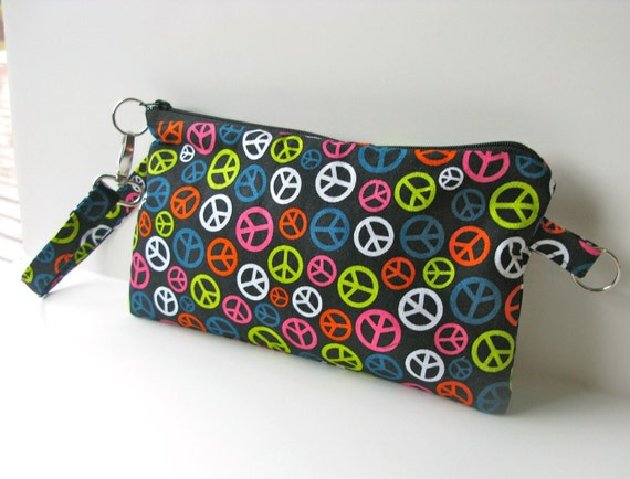 Georgia O'Keefe  Zippit -  -Three in One-Hip Bag, Wristlet, Cosmetic Bag- The Colors of Peace