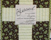 Blessed Sister Prayer Quilt Wall Hanging