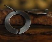 SALE - Zen Circle Earrings - Oxidized
