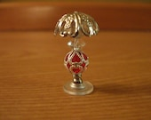 Miniature Red lamp - 1 inch scale - non electric