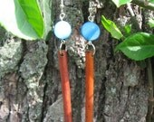 Blue Moon Bamboo Earrings