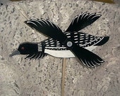 WHIRLIGIG- LOON, wind motion, windspinner,hand crafted, handmade,Home & Living,garden decore,yard art,woodcraft,lawn ornament,woodland bird