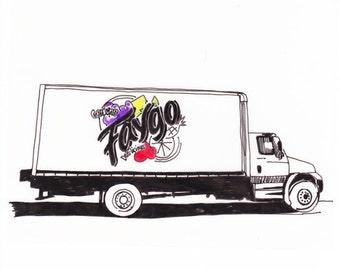 Faygo Truck, Detroit Giclee Print 8x10