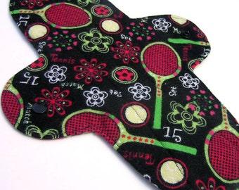 CozyPads Cloth Menstrual Pad (Maxi Black Tennis)