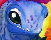 Poisonous Tree Frog Watercolor Print