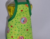 Sweet Cupcake Heart  Red  Decor Dish Soap Bottle Apron Small Cozy Home