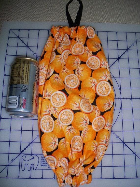 Orange Plastic Bags Holder Dispenser Organizer Decor