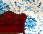 The Tiny Couch and the Vintage Wallpaper