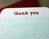 Stitches Thank You Flat Notes-set of 8