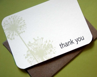 Mystery Flower Thank You Notes-Set of 8