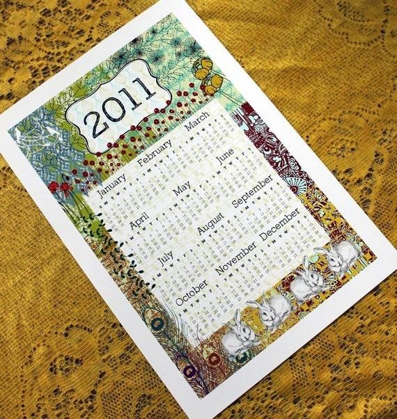 2011 wall calendar-13 x 19 poster