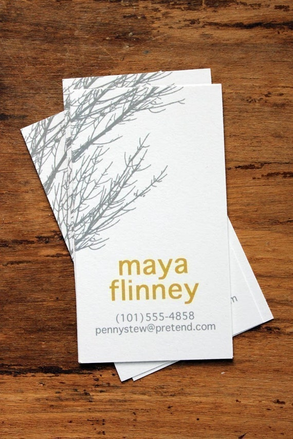 Gray Branches Calling Cards