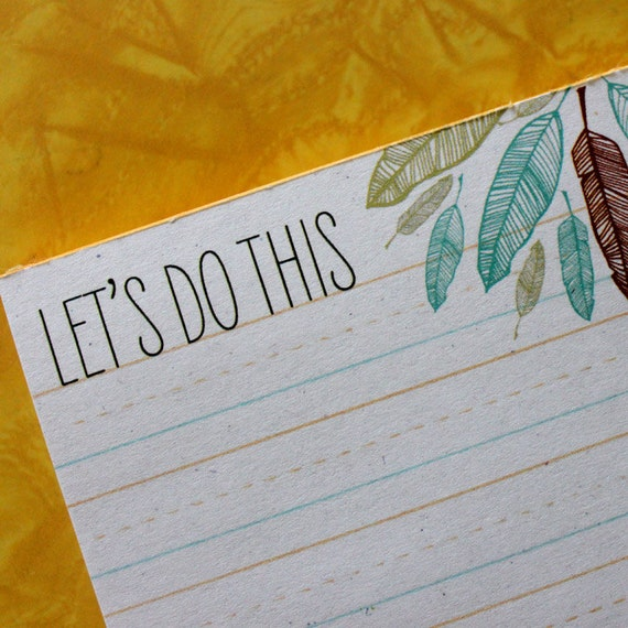 note pad-let's do this