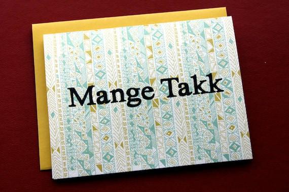 Mange Takk-Many Thanks in Norwegian