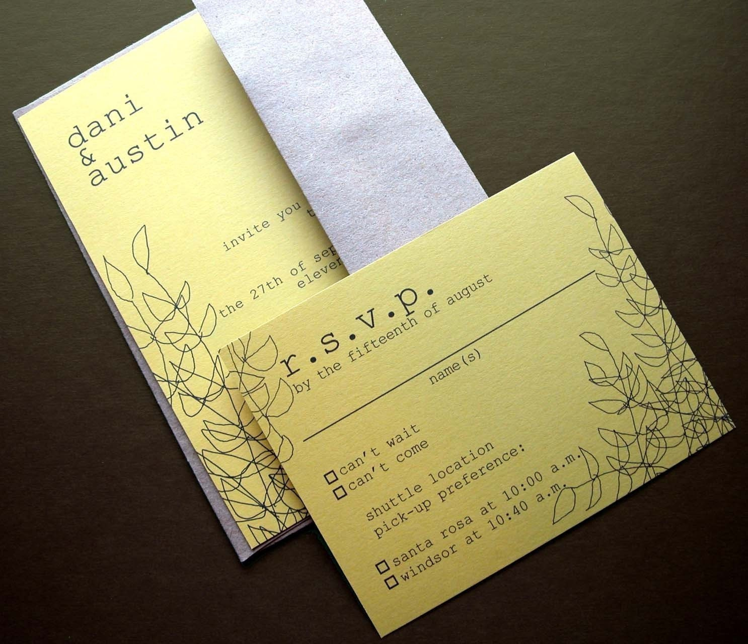 Wedding Invitation With Rsvp Postcard. Wedding. Inspiring wedding ...