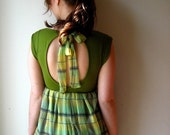 Green Grass Sundress with back Keyhole and bow